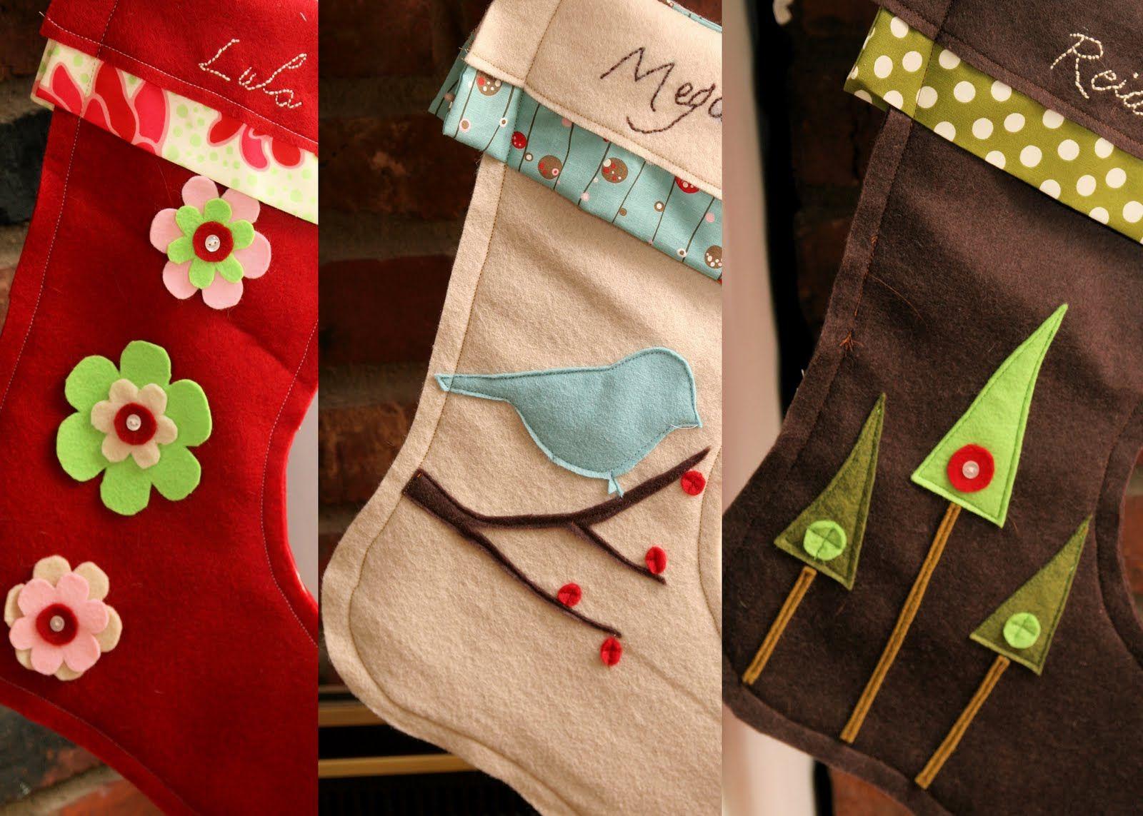 Рождественский чулок - 5 простых идей