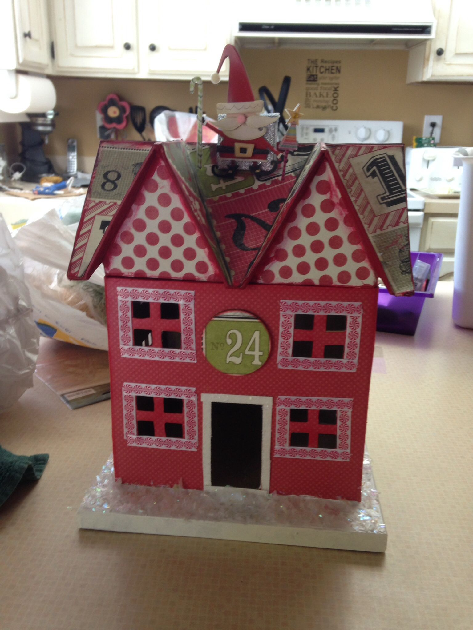Christmas paper mache house wood crafts pinterest for Pinterest wood crafts for christmas