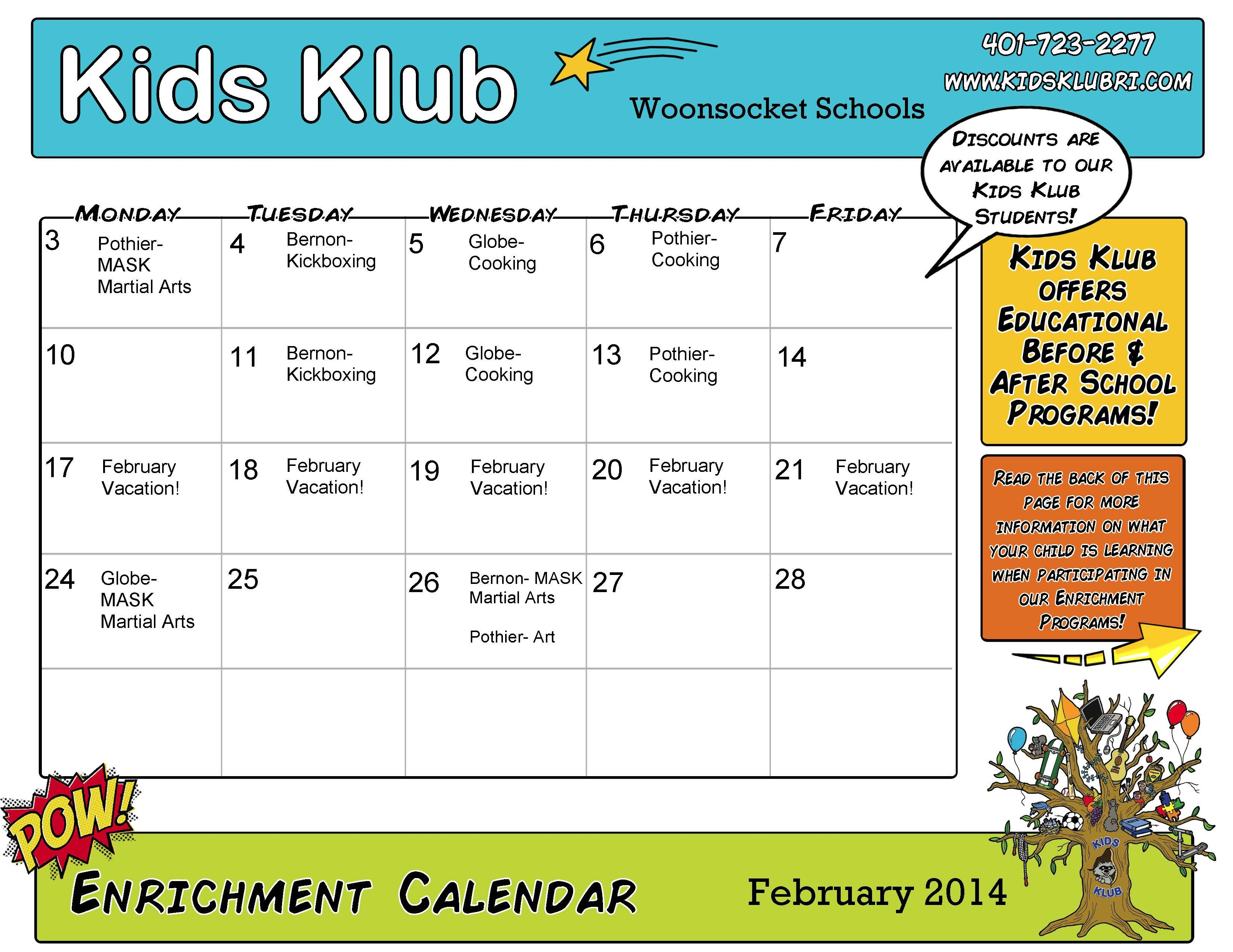 Enrichment Calendar (editable pdf) | My marketing materials/campaigns ...