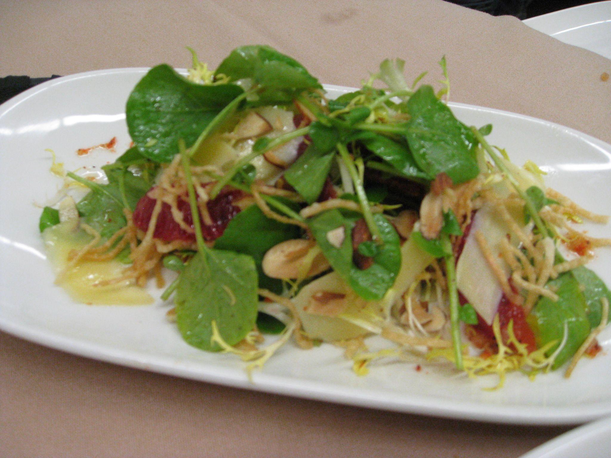 Blood Orange & Almond Arugula Salad | Food Pictures | Pinterest