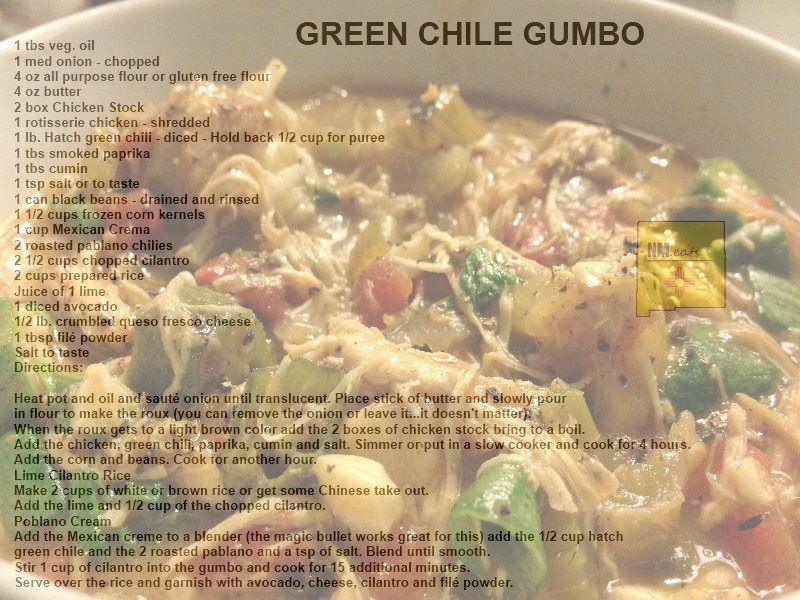 Green Chili Gumbo | OLE'~~~Mexican Made Easy~~ | Pinterest