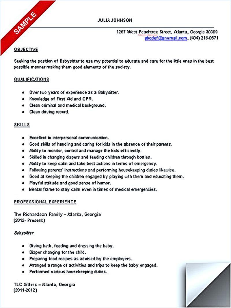 best nanny resume