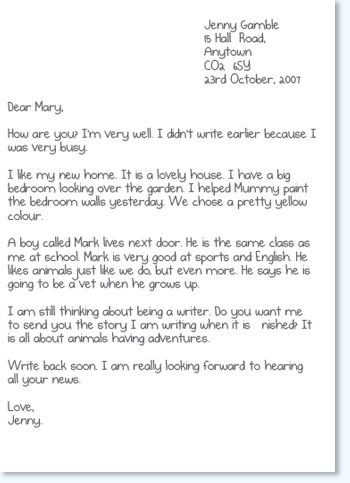 Activity 2c: Informal letters These are letters to friends and ...