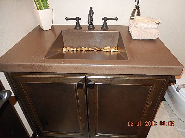 Sink Rocks : Bathroom sink with rocks Updating my house ideas Pinterest