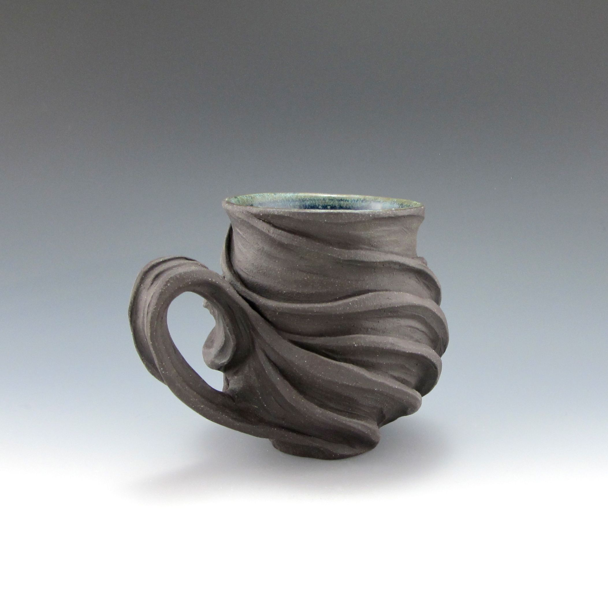 Ebony stoneware cup etsy taste test pinterest for Clay pottery designs