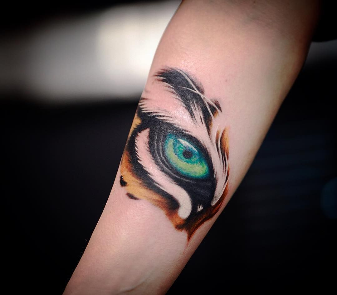 Cute tiger tattoo for girls