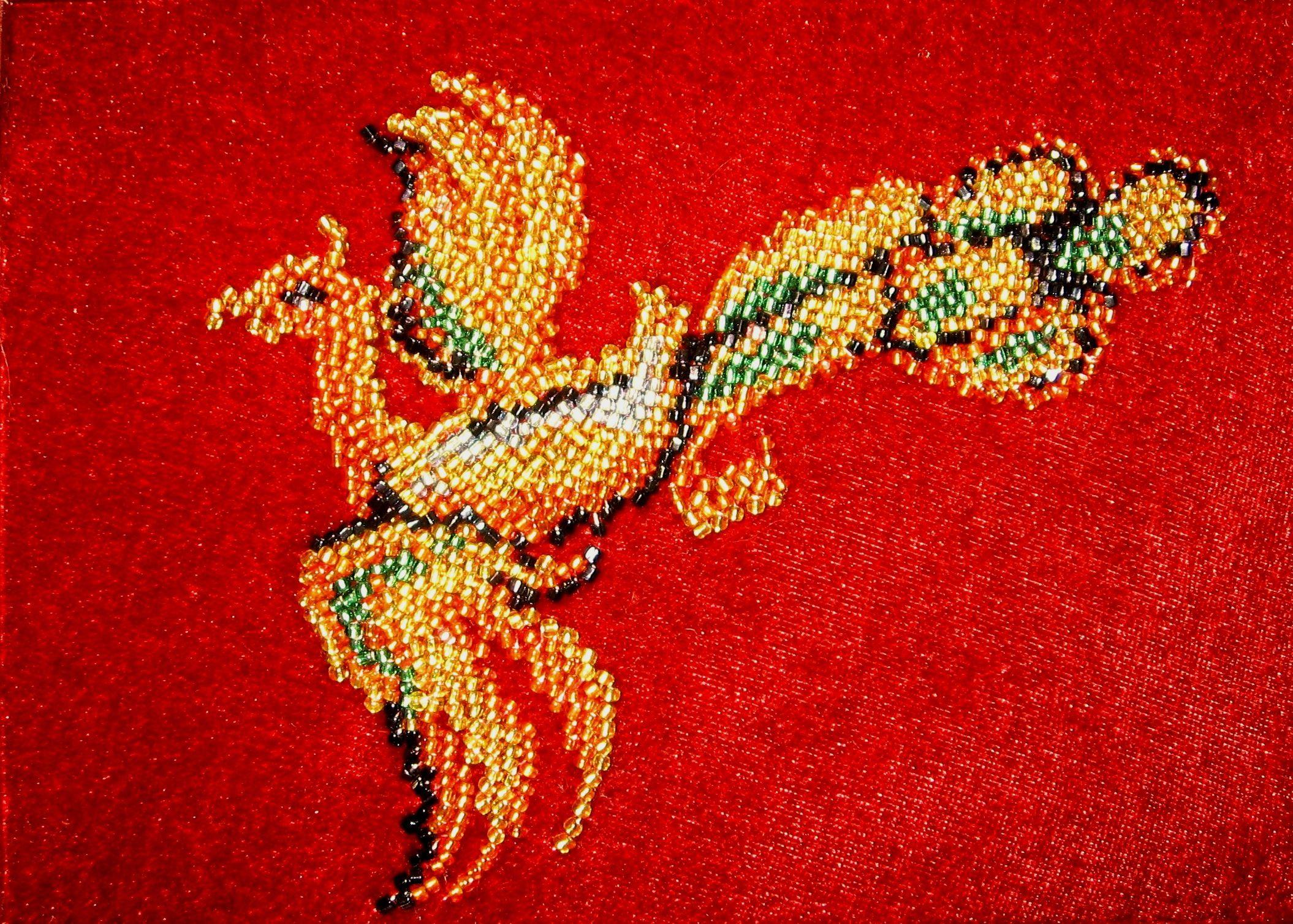 Вышивка бисером птиц фото