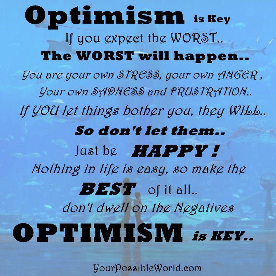 Optimism  Quotes  Pinterest