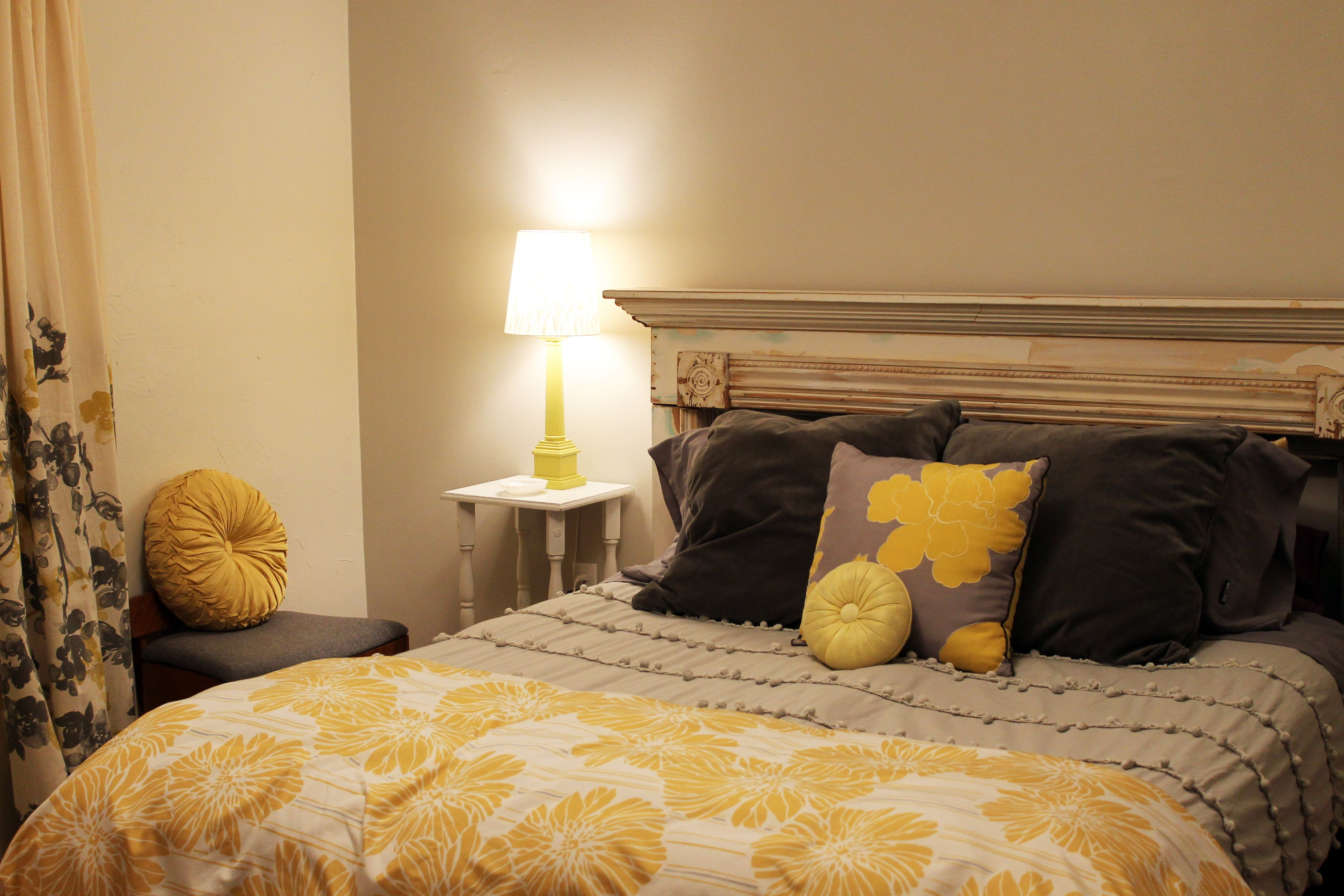 Yellow And Gray Bedroom Decorating Ideas Pinterest