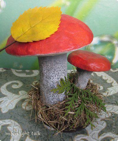 Как сделать грибы своими руками из папье маше