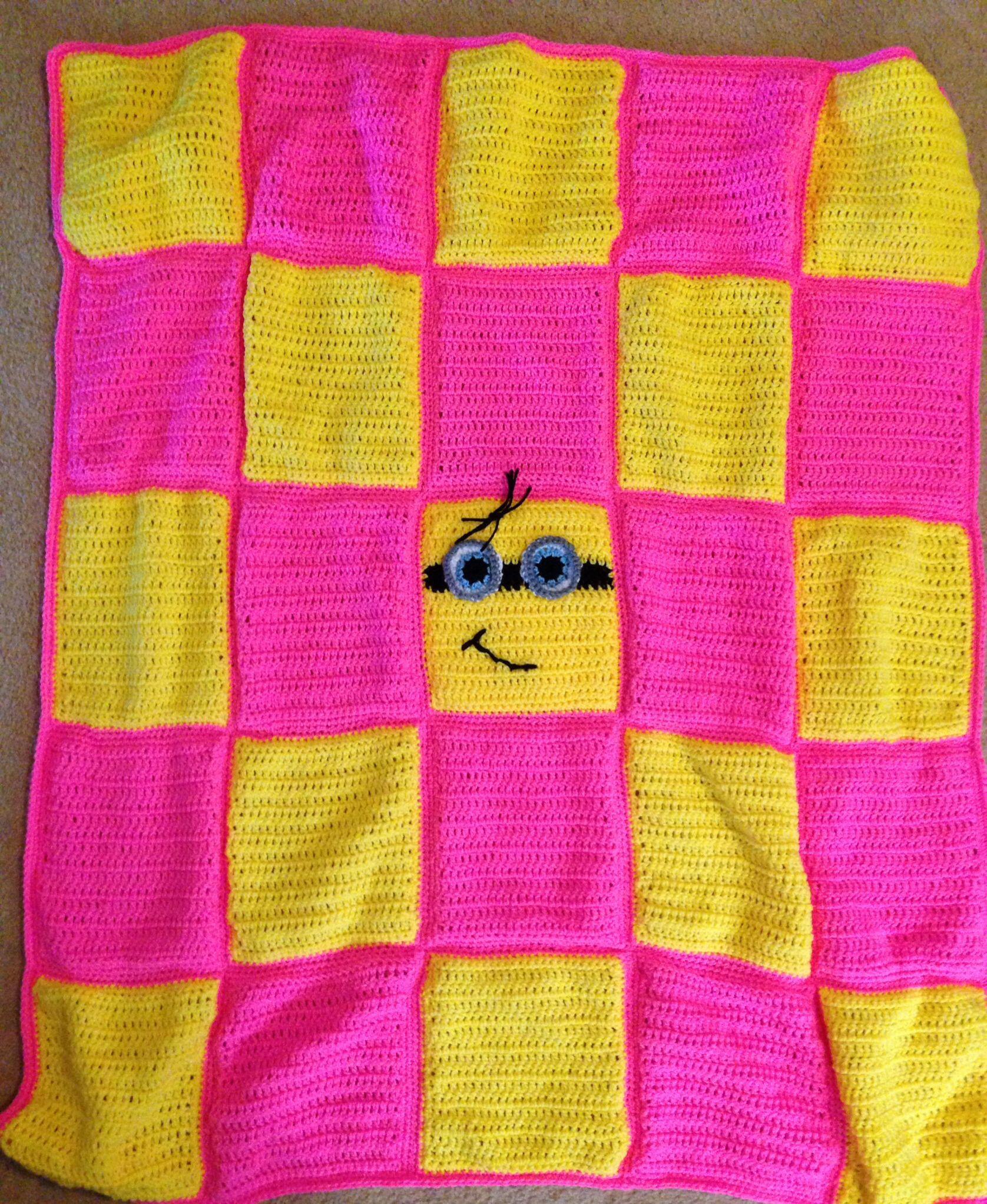 Crochet Pattern For Minion Blanket : Minion Blanket Crochet Pinterest
