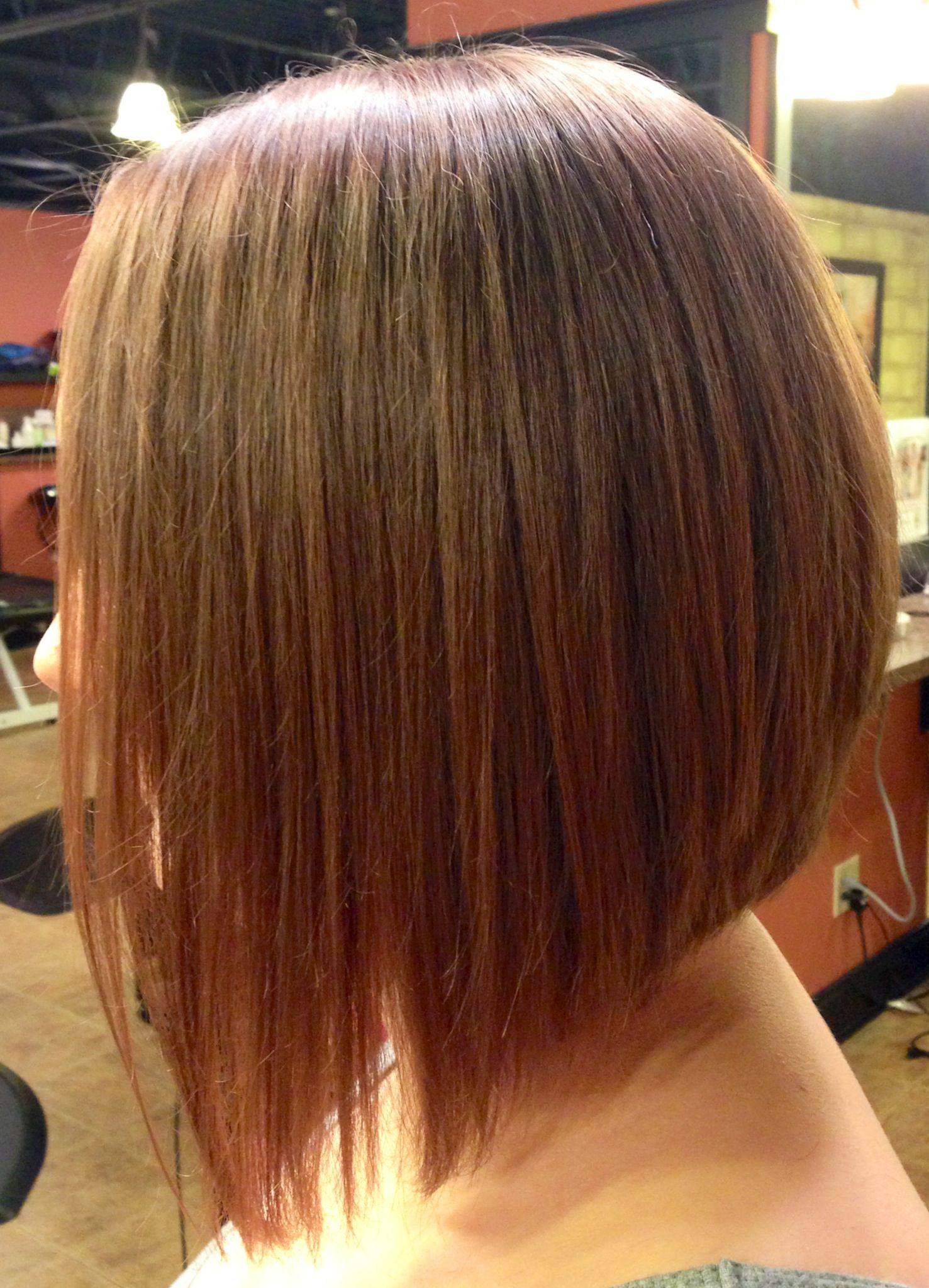 Боб-каре причесок с удлинением на длинные волосы