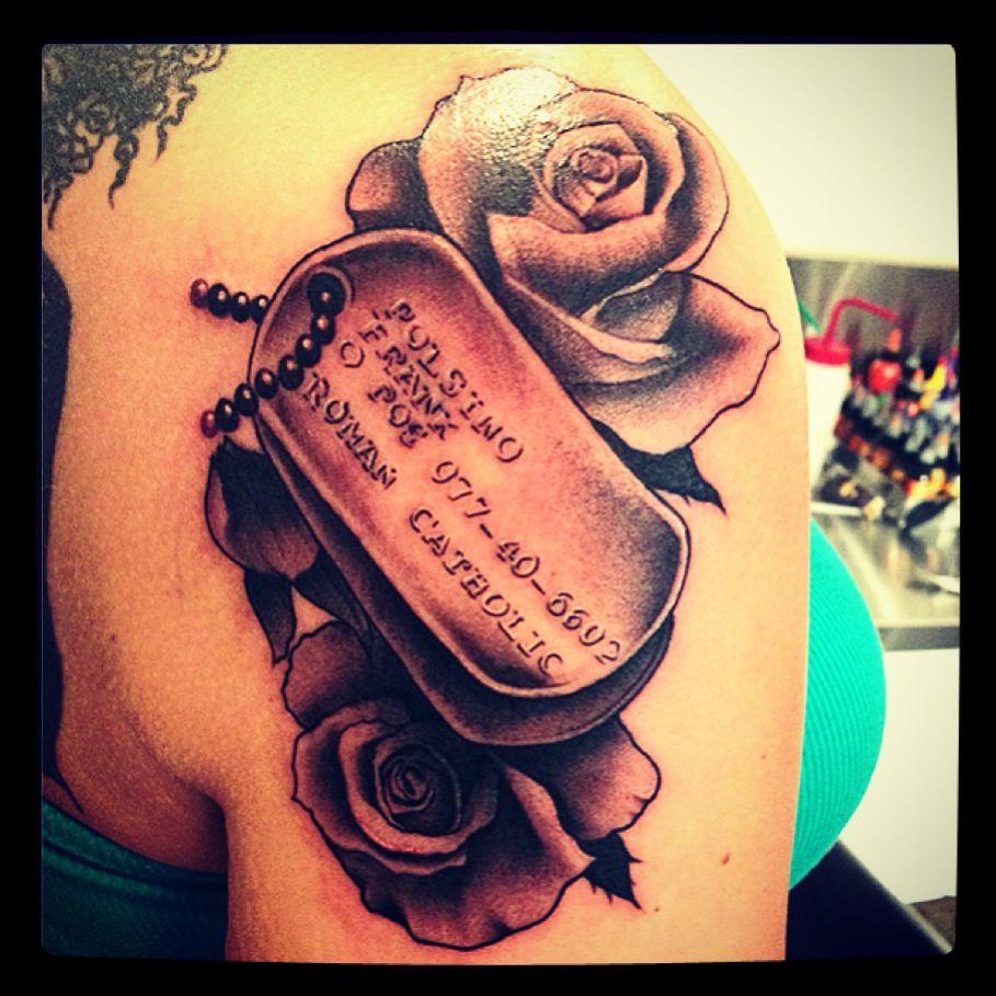 Dog tag tattoo tattoos pinterest