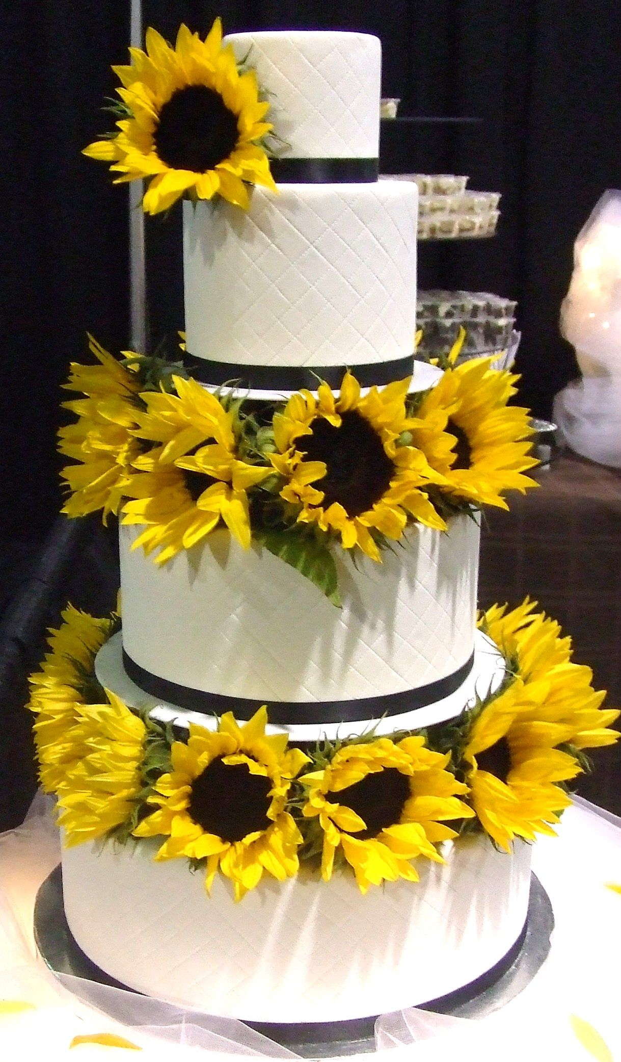 Pin Bc Sunflower Cupcake Bouquet Wedding Style Cake on