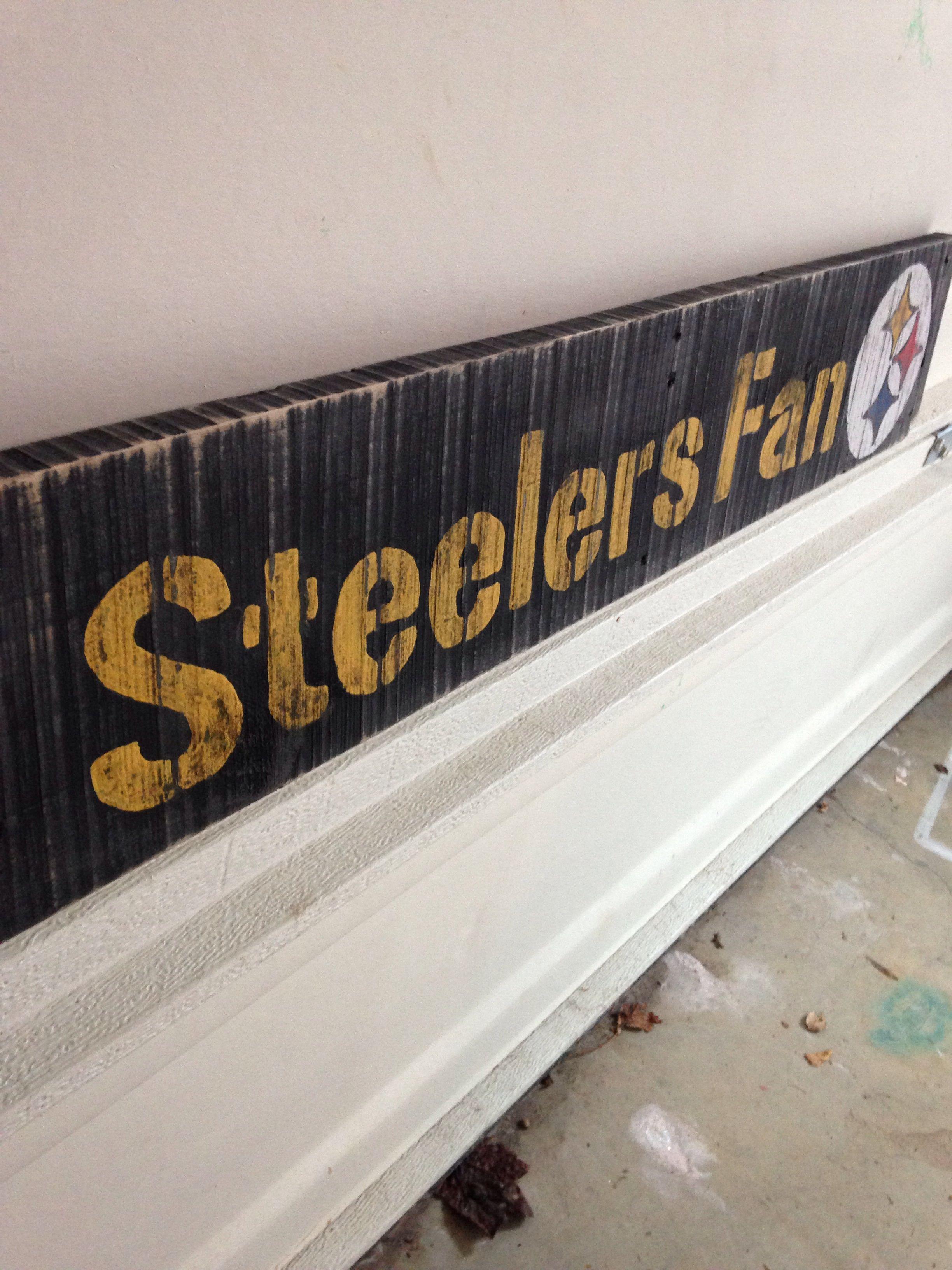 Steelers pallet sign | pallett furniture | Pinterest