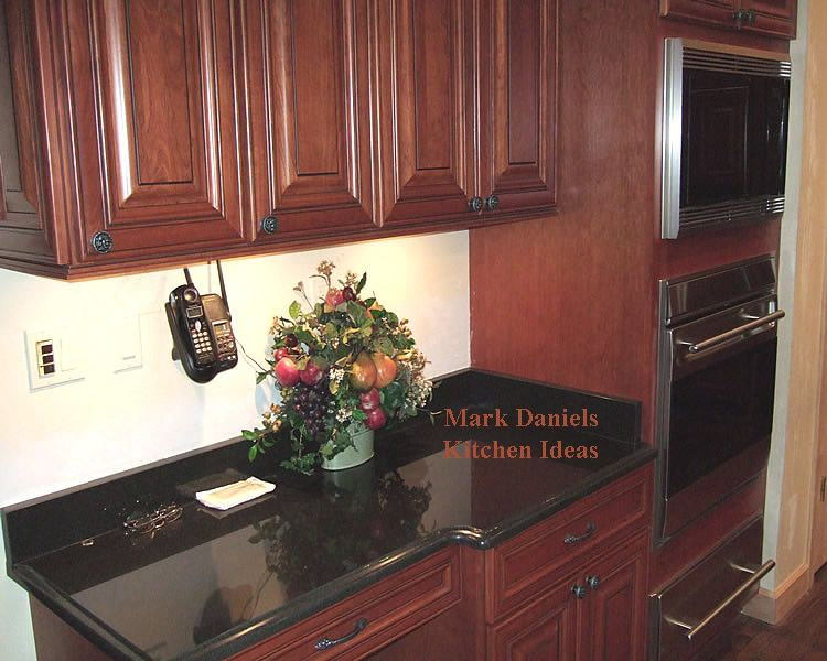 Cherry Cabs Dark Granite Kitchen Pinterest