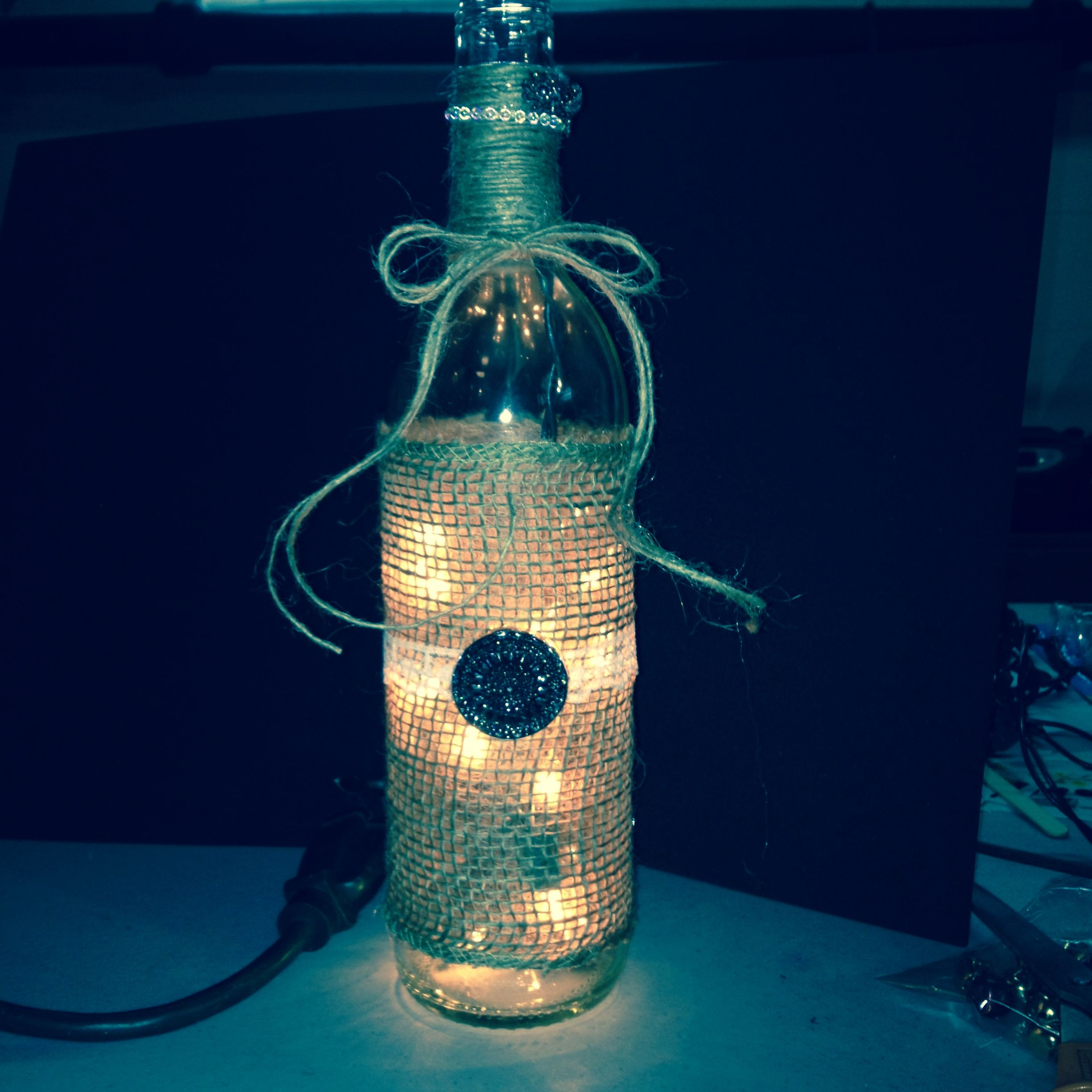 Wine Bottle Light Dyi Craft Ideas Pinterest