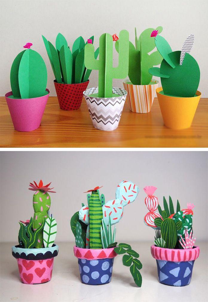 Сделать своими руками из бумаги кактус