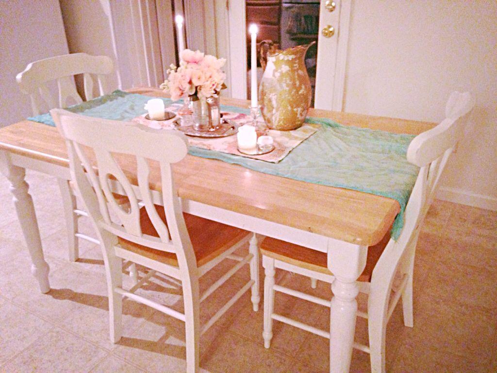 Shabby Chic Kitchen Table Casa Pinterest