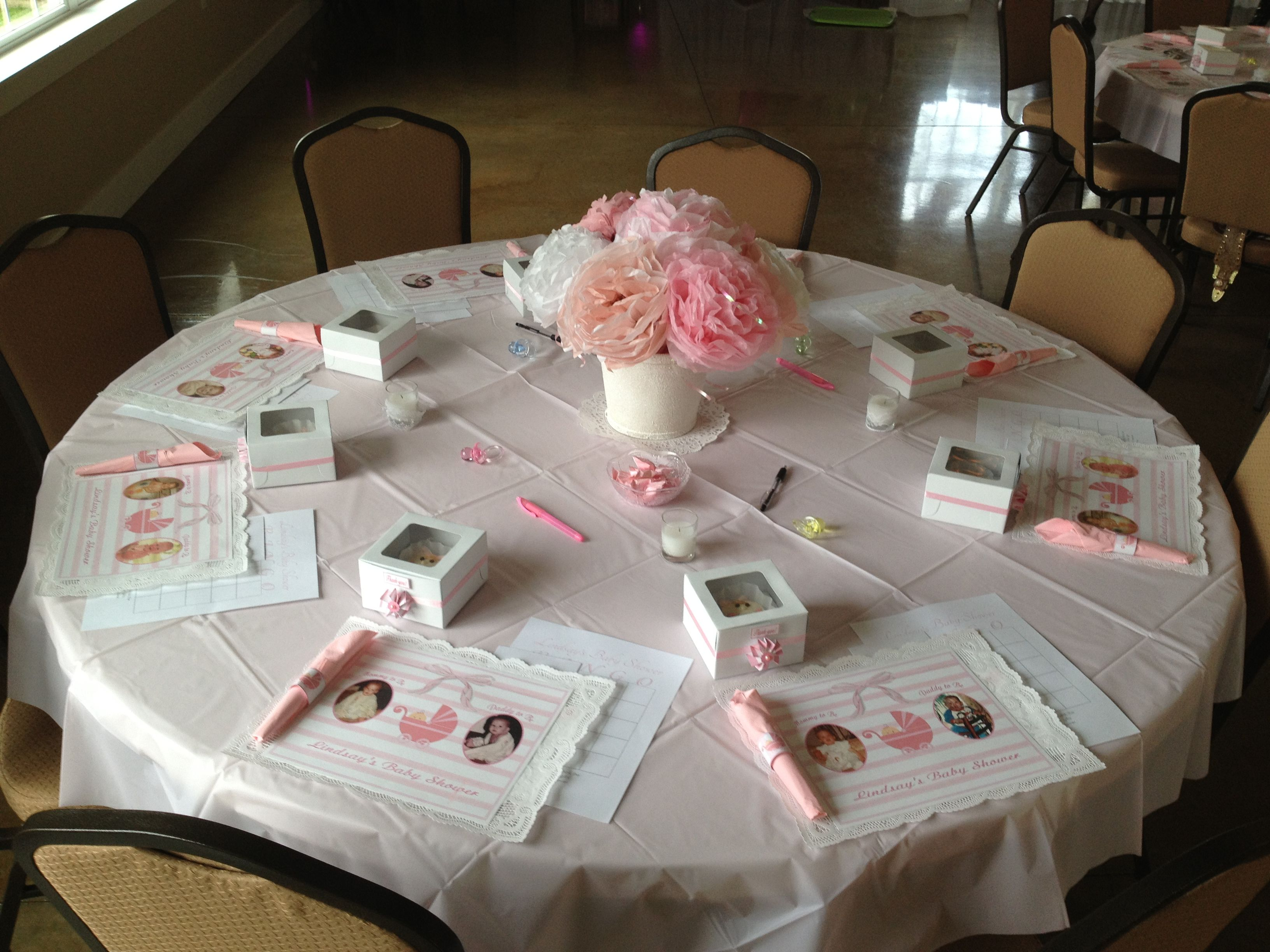 Baby shower table set up baby shower pinterest for Baby shower decoration set