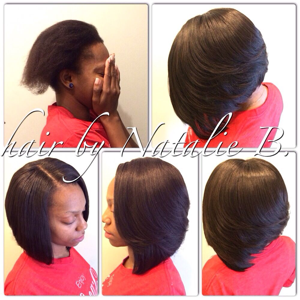 Long-Layered Bob Sew in Weave