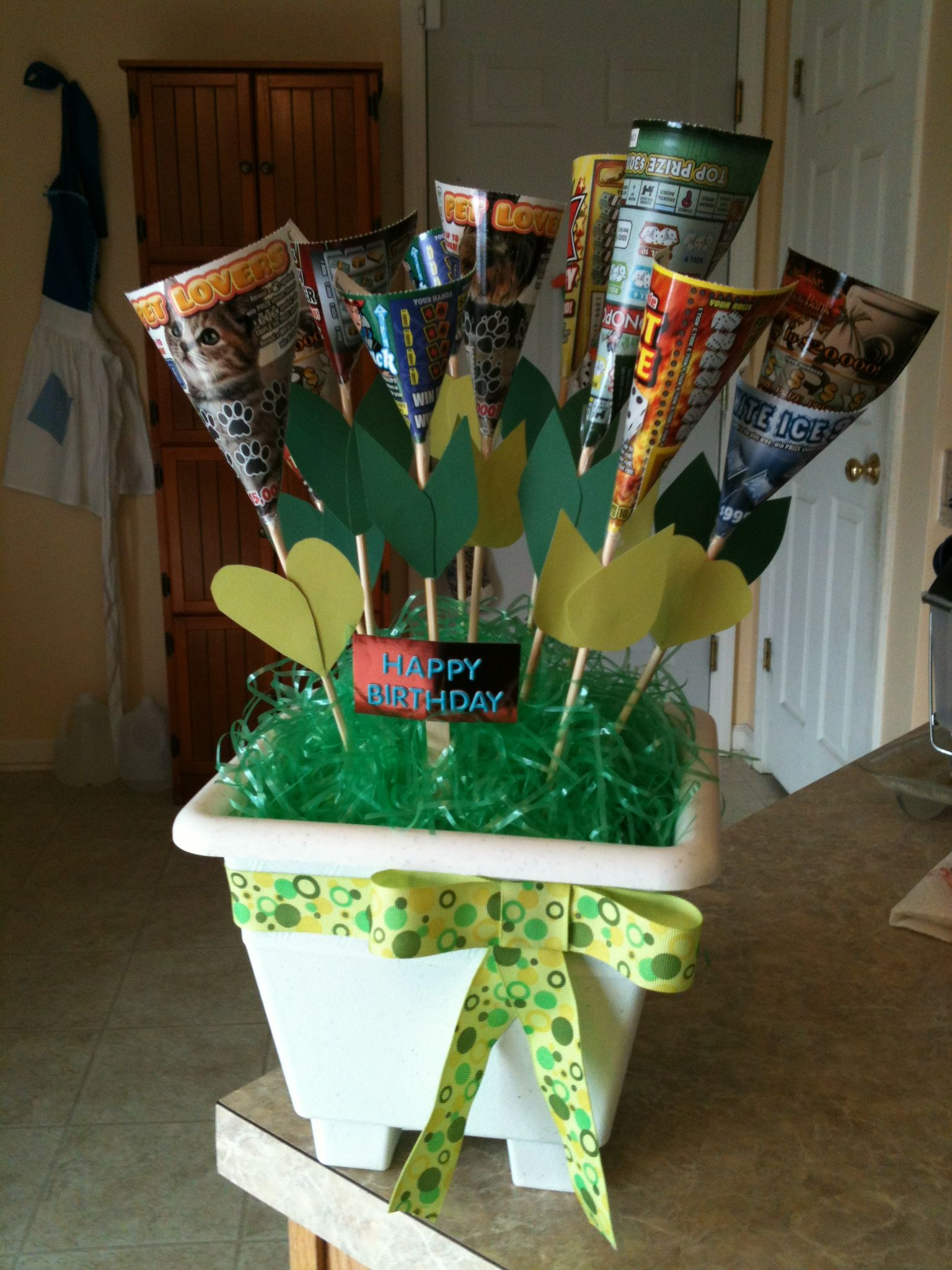 Dads bday gift lottery ticket tree gift ideas pinterest