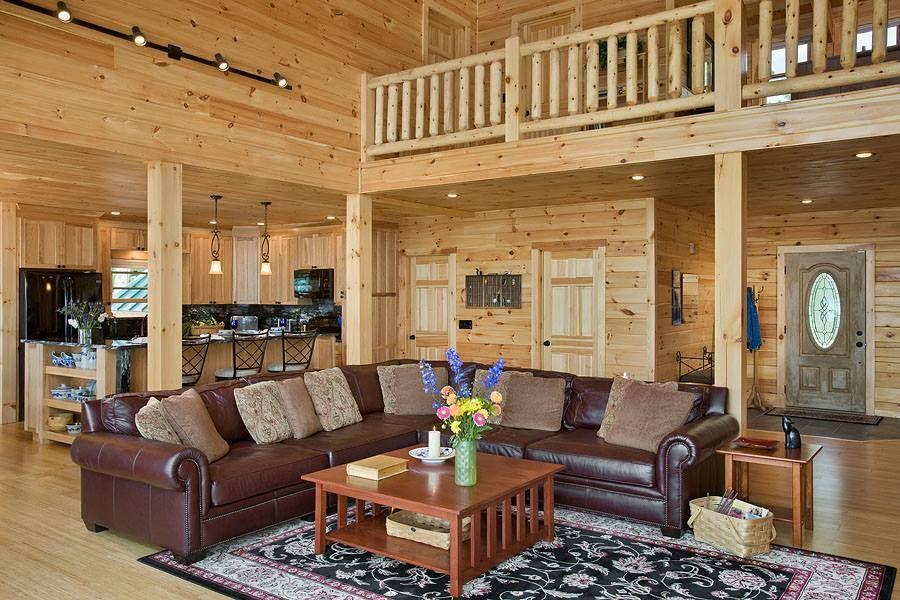 Relaxing Living Room Log Cabin Cozy Pinterest