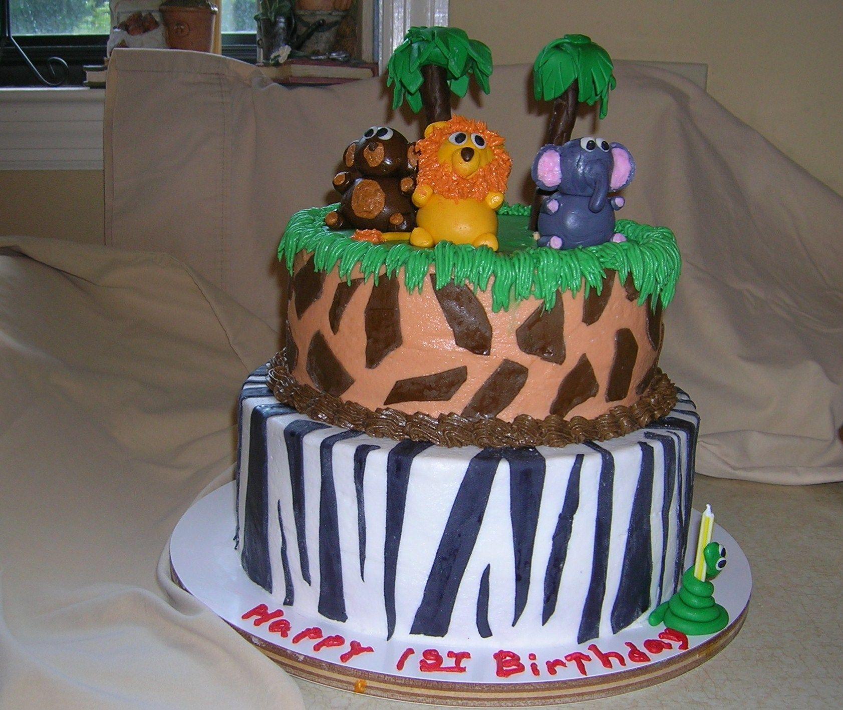 1st birthday cake jungle