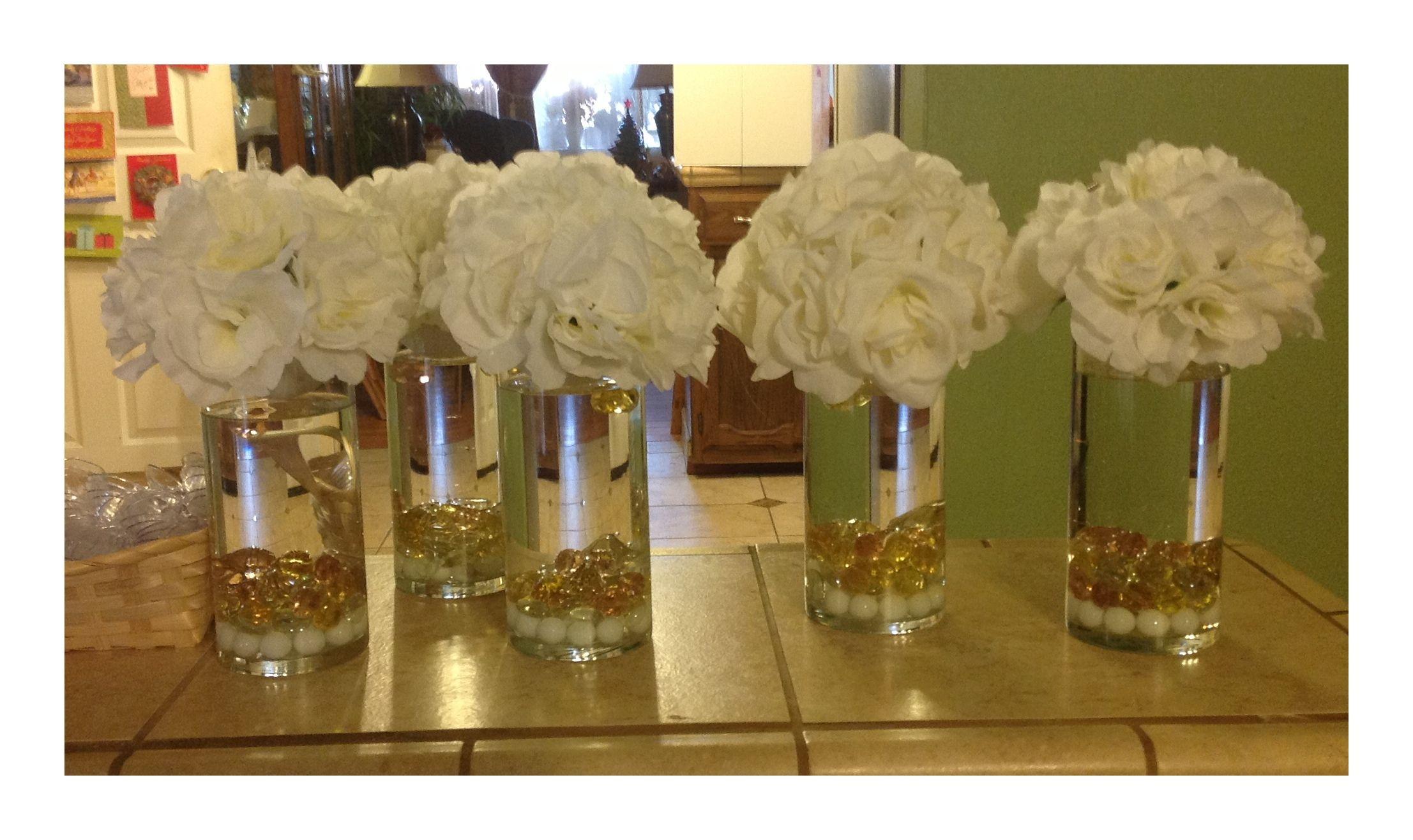 Table centerpieces gold diamonds rocks tablescapes amp centerpieces