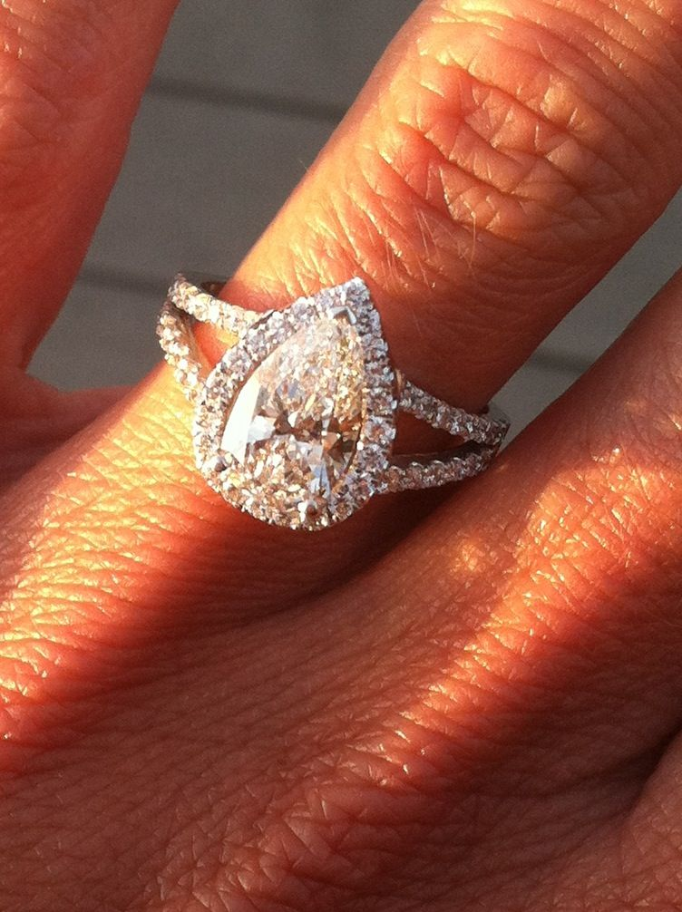 Pear Engagement Ring Dream Wedding Pinterest