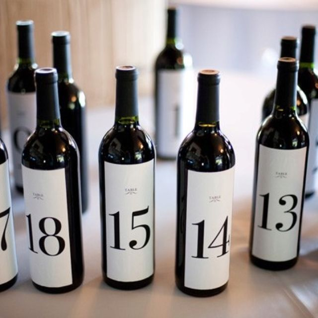 wine bottle wedding table numbers ideas buy online