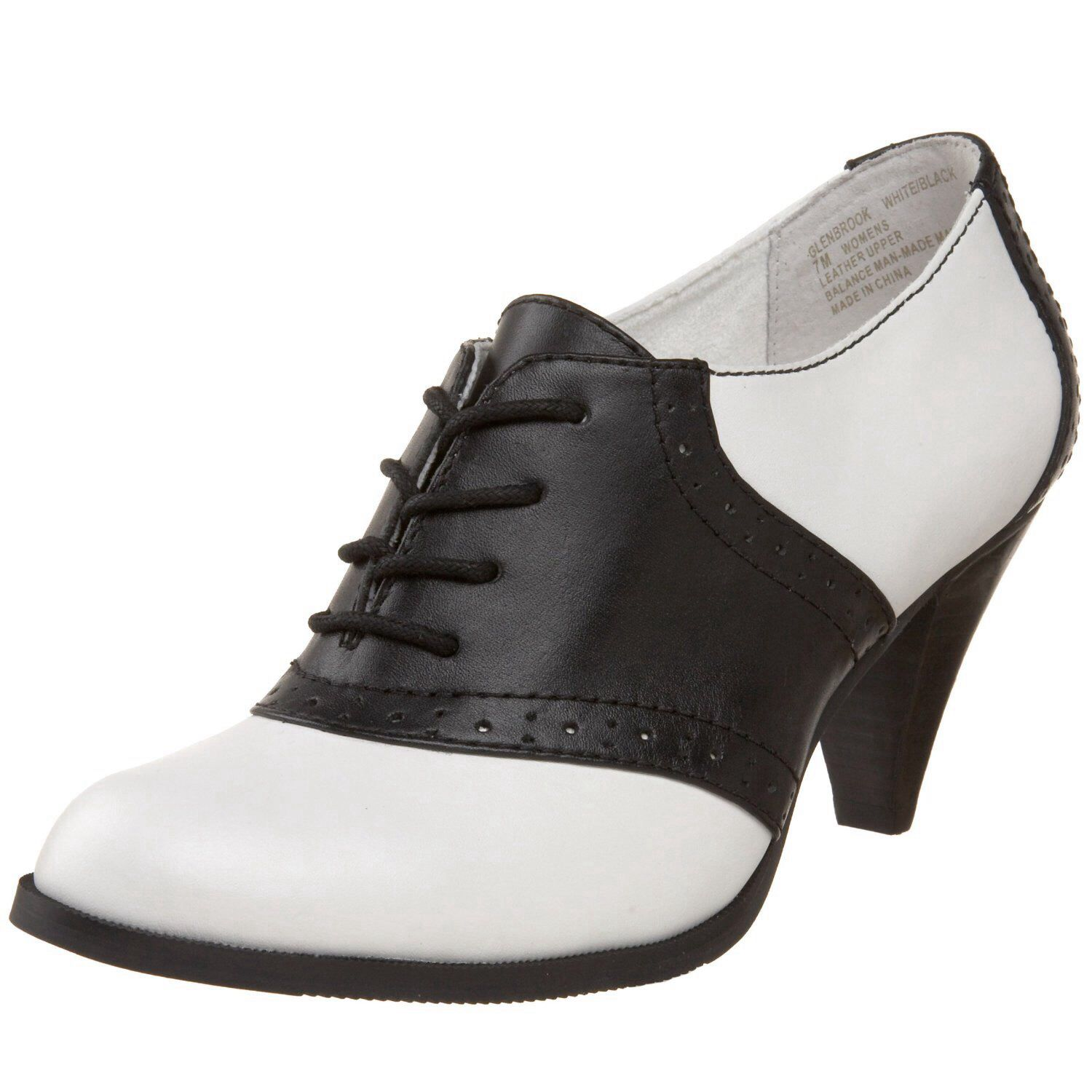 black and white heel oxfords s best friend