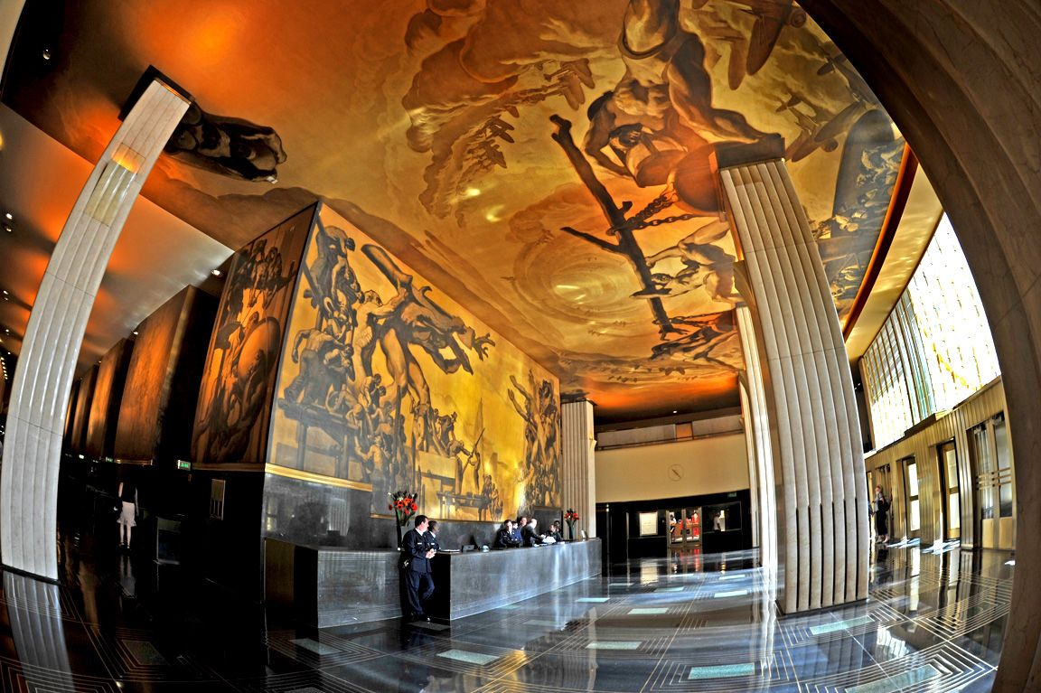 Pin by j bp on nyc rockefeller center pinterest for Diego rivera mural at rockefeller center