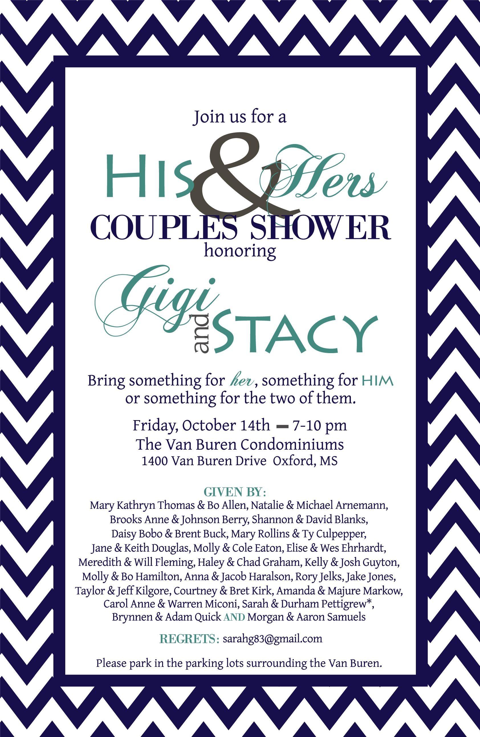 Couples wedding shower invitation wedding ideas pinterest for Wedding couples shower invitations