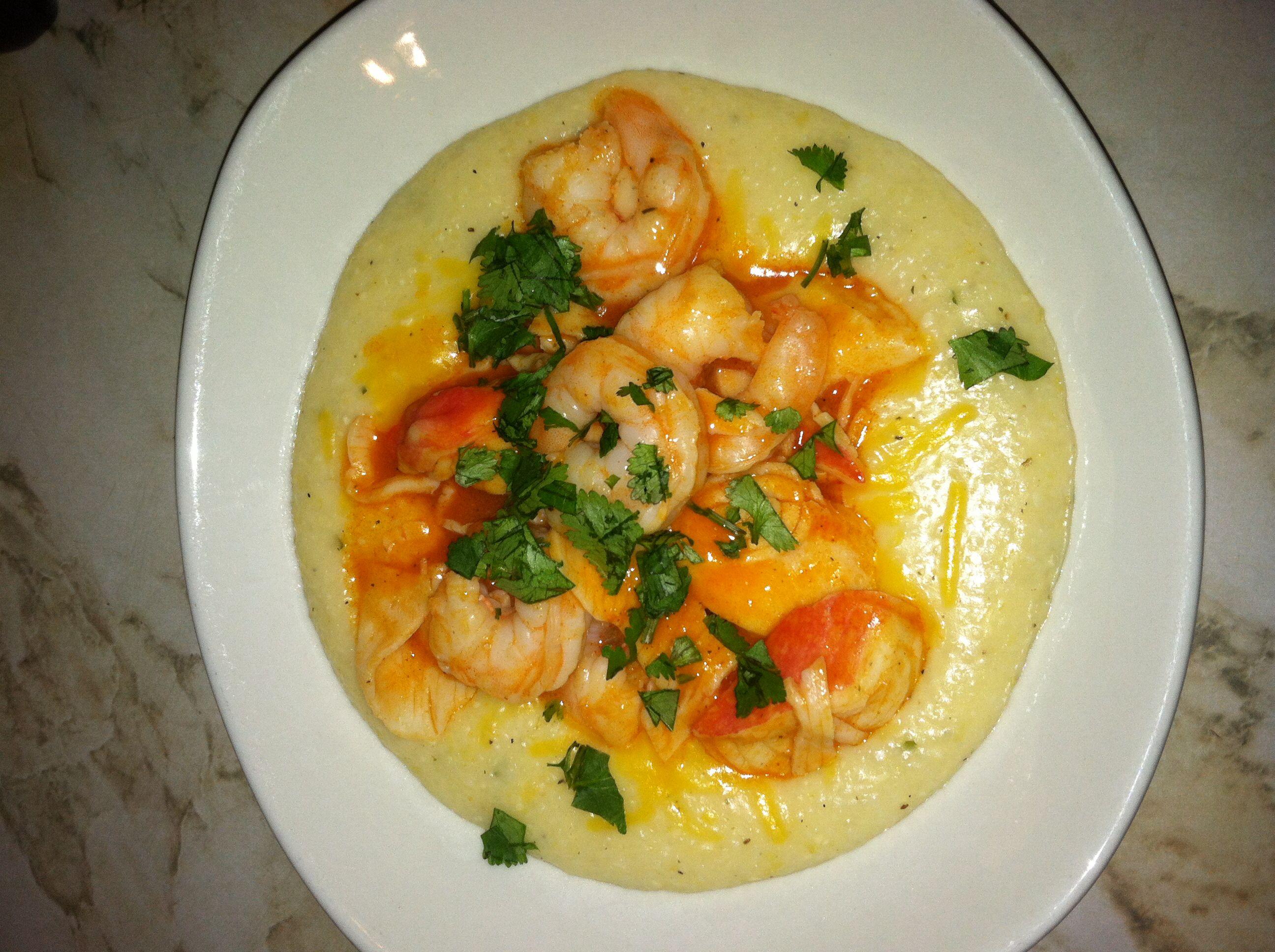 Spicy Rock Shrimp & Grits Recipe — Dishmaps