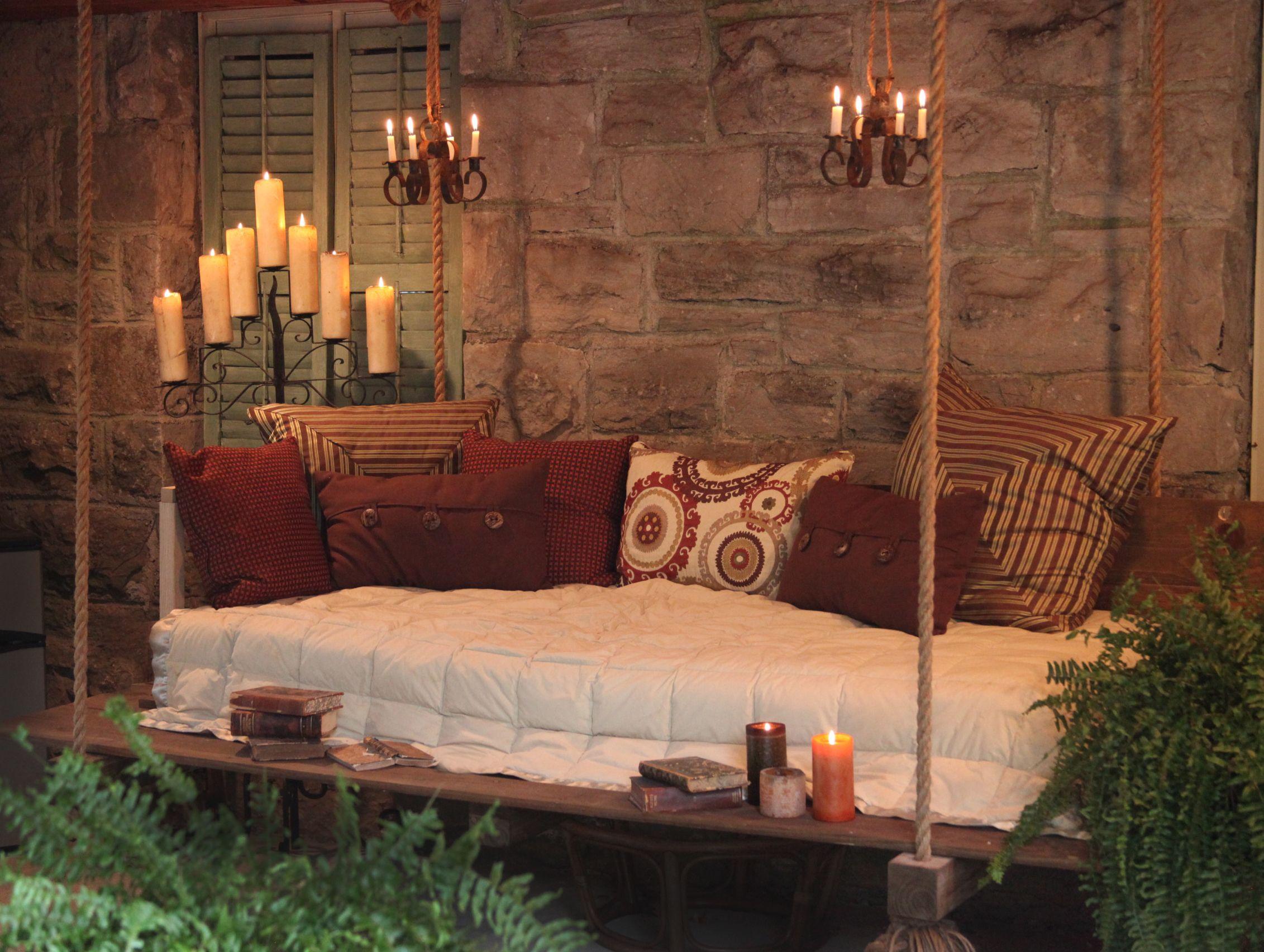 outdoor bed swing beds pinterest