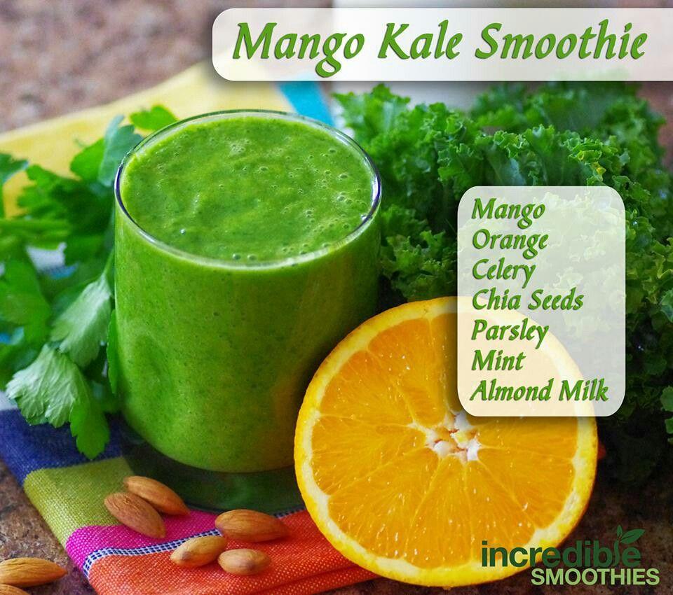 mango kale smoothie | juicing/smoothies/remedies | Pinterest