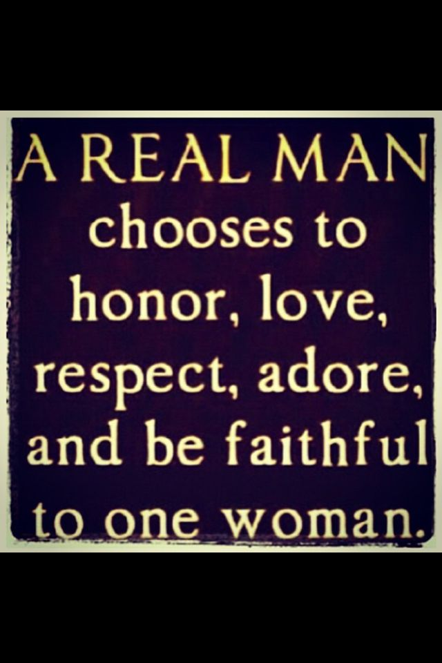 A definition of a real man