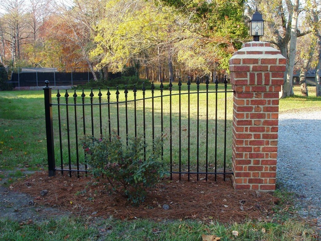 Arched panel iron fence shop custom wrought