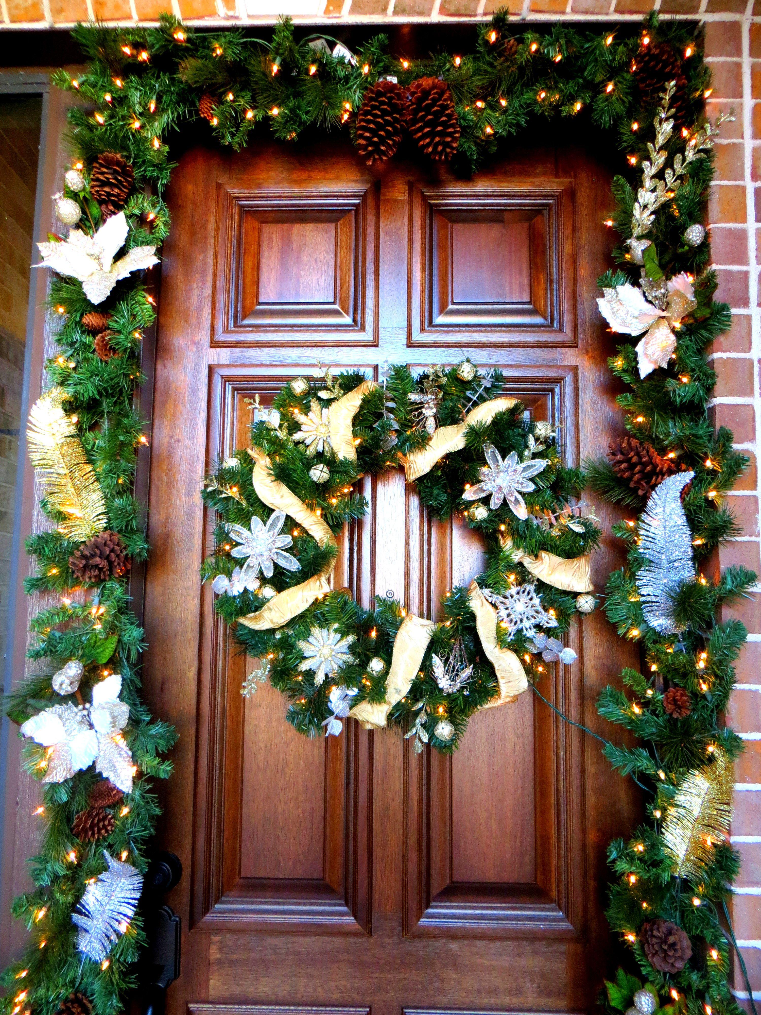 Gold & Silver Front Porch Decor!   Christmas   Pinterest