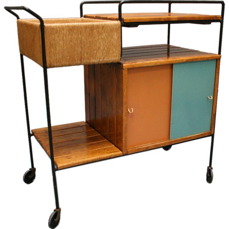 mid century bar cart home garden pinterest. Black Bedroom Furniture Sets. Home Design Ideas