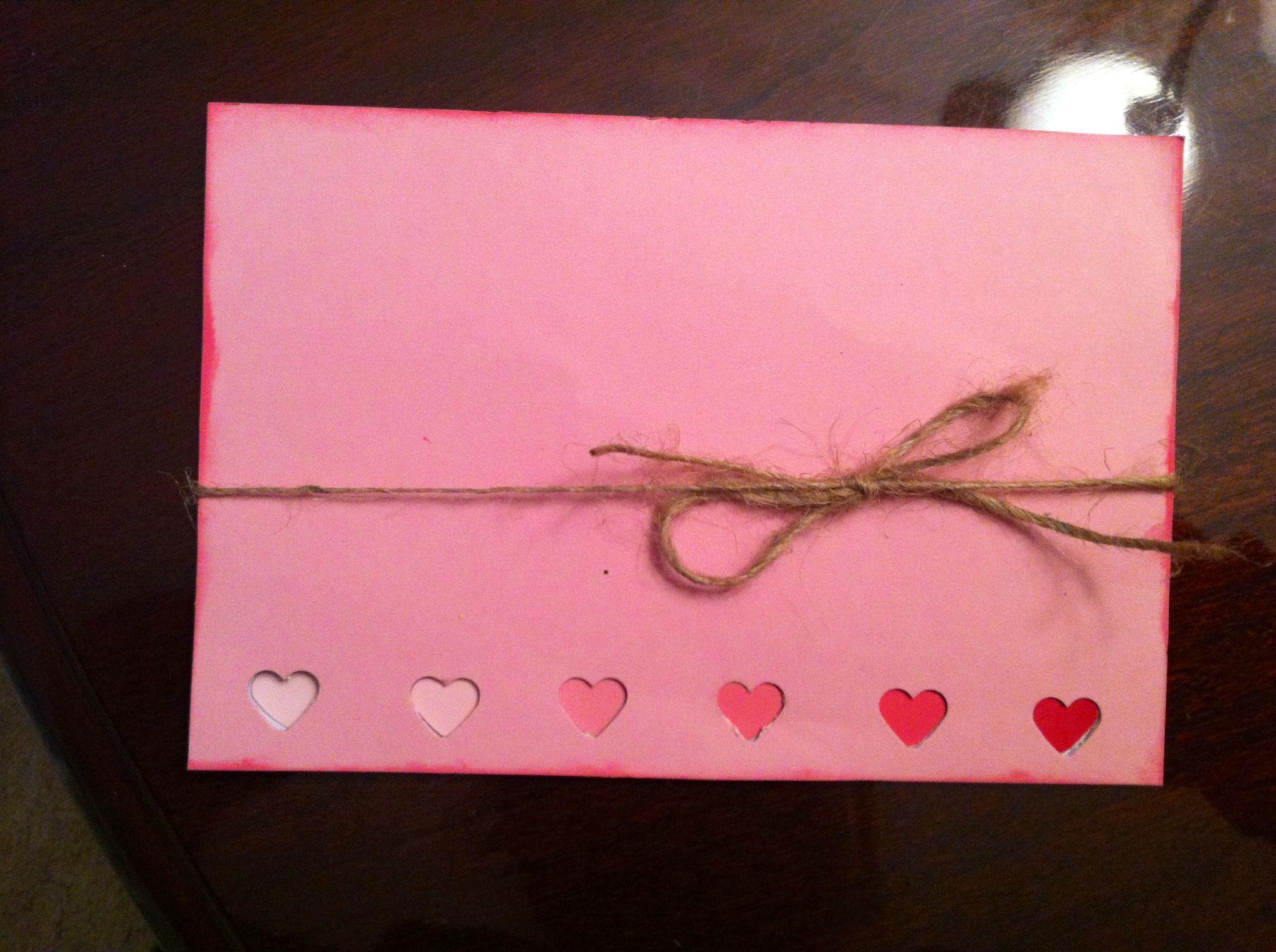 diy valentine's day cards him