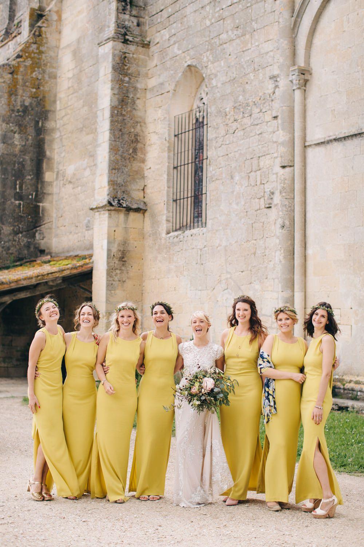 mustard yellow bridesmaid dresses  B2B Fashion