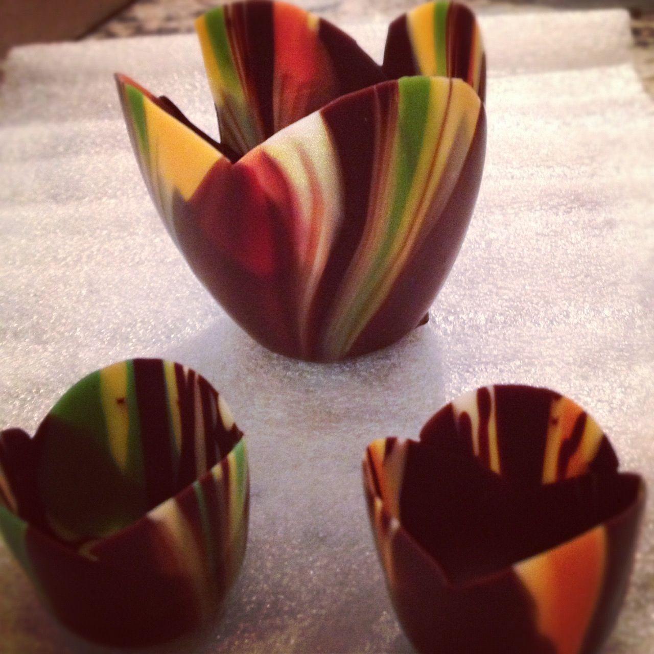 Artful chocolate dessert cups! | La maison | Pinterest