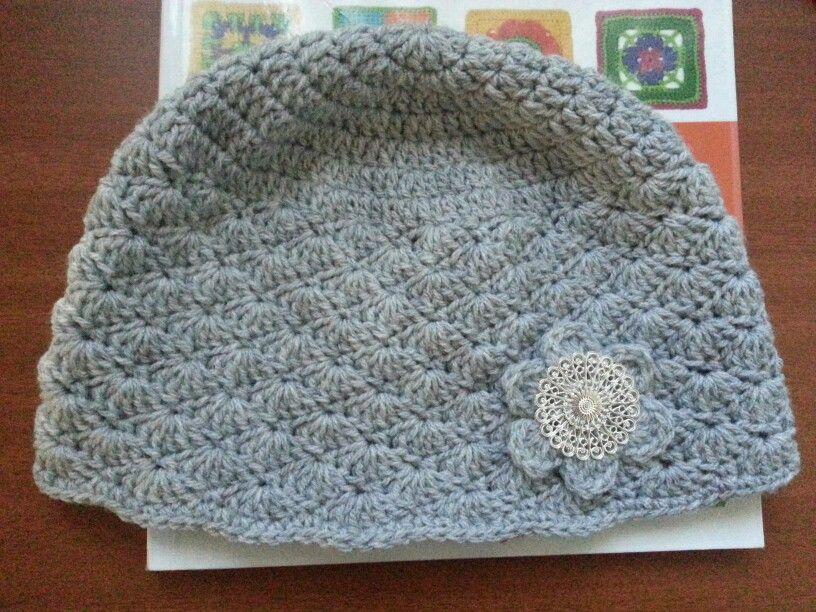 Crochet Shell Beanie Hat Pattern : My beanie (with shell stitch) Crochet Pinterest