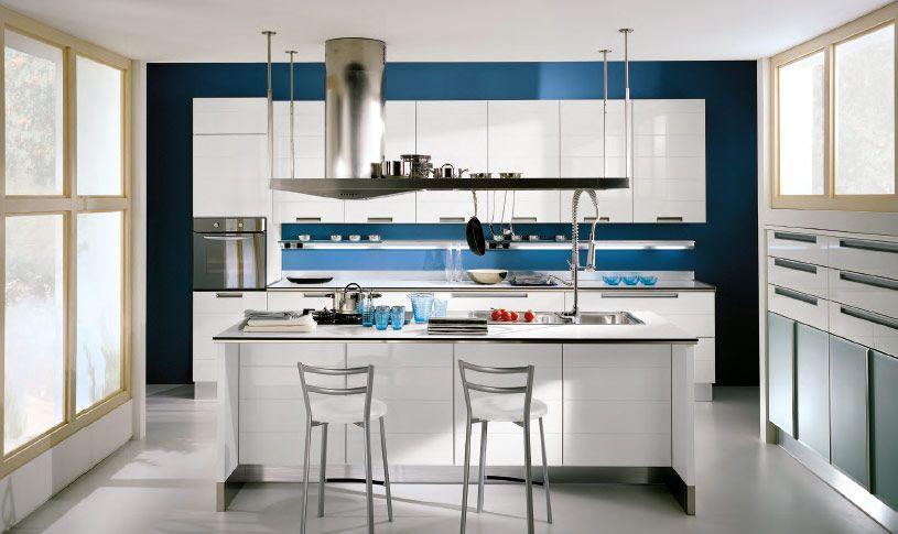 natural light blue  kitchen ideas  Pinterest