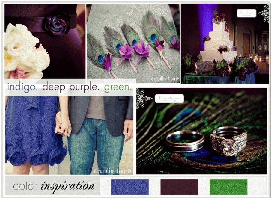 Peacock Wedding Color Scheme