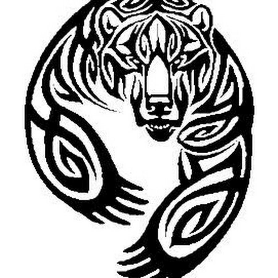 Celtic wolf paw print