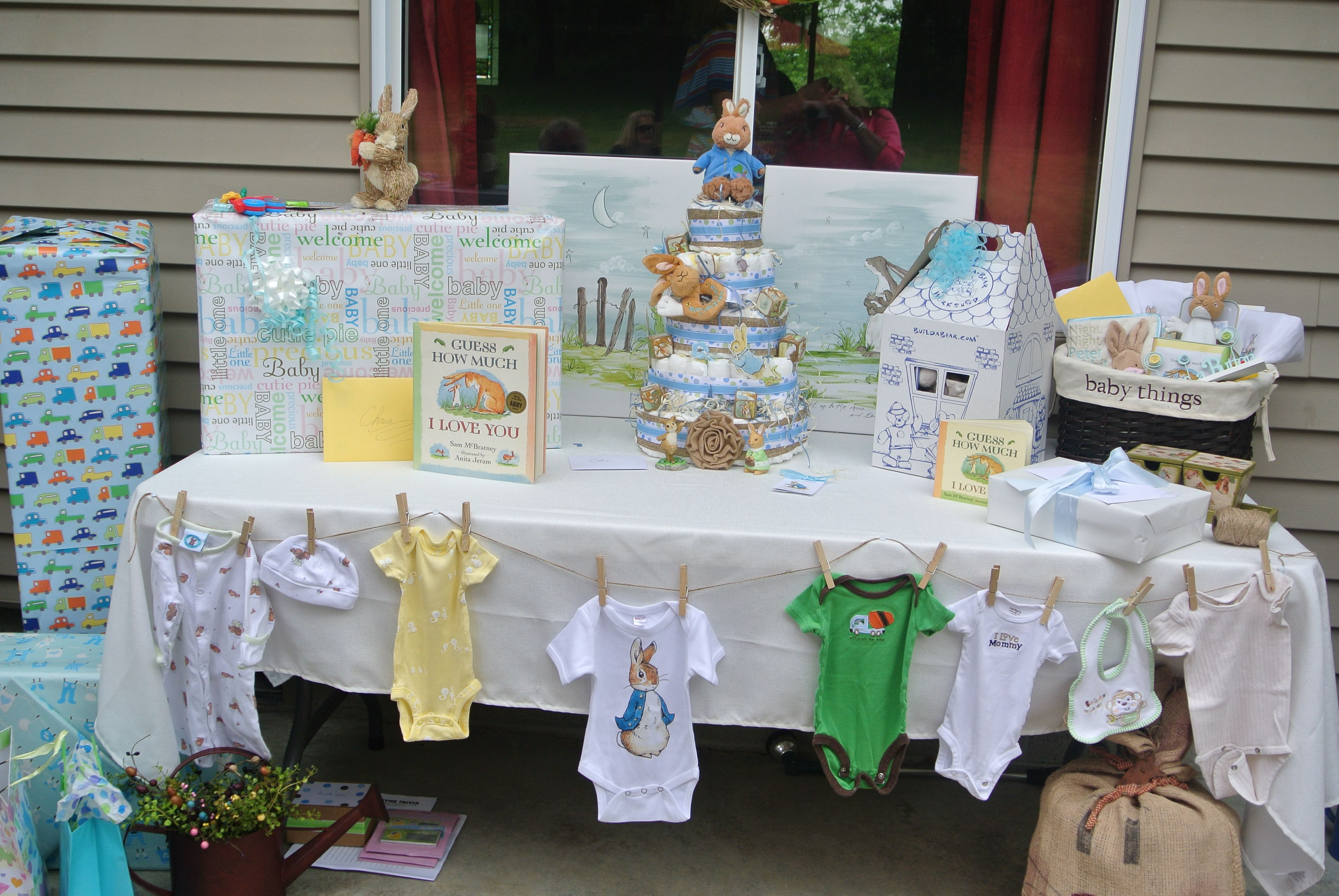 baby shower gift table baby shower pinterest