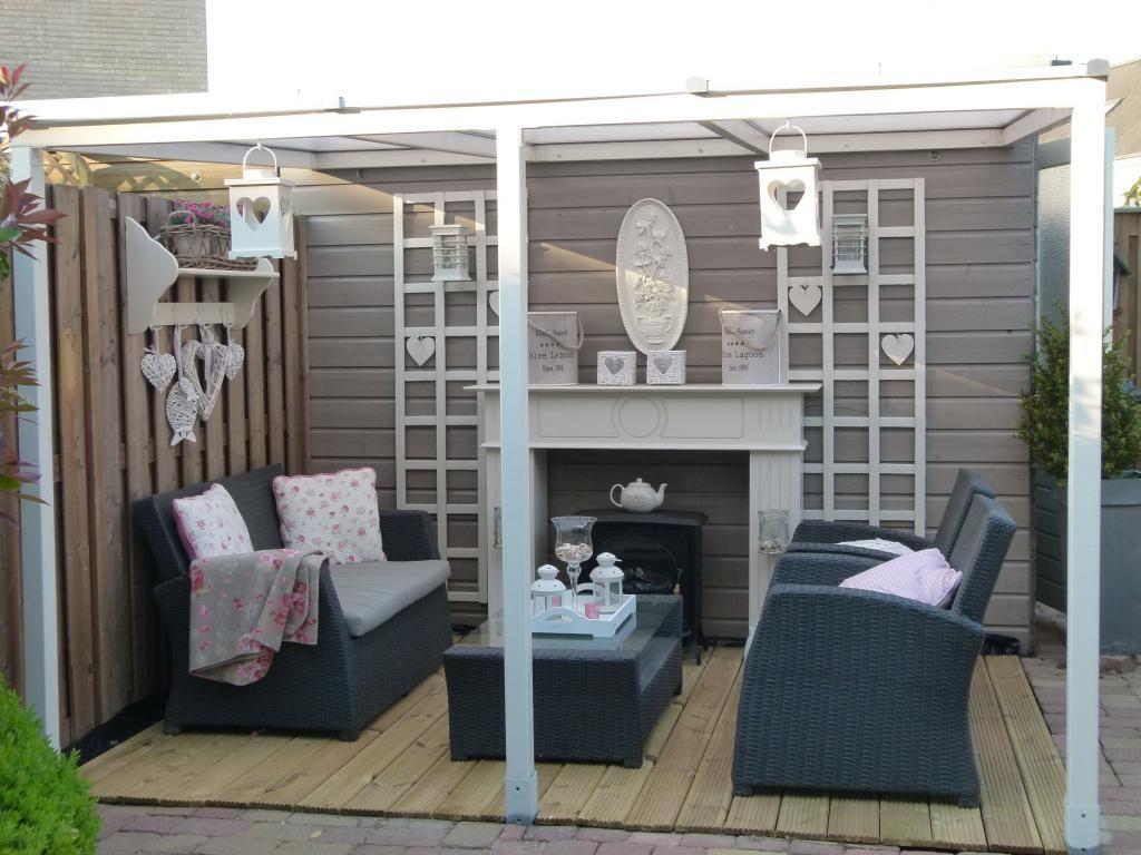 Voorbeeld voor buitenverblijf buitenleven tuin pinterest - Decoratie jardin terras ...